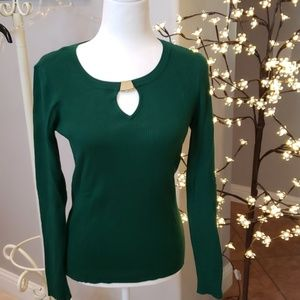 INC Long sleeve blouse Emerald Green size Medium